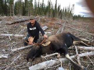 Terry with his 2020 moose