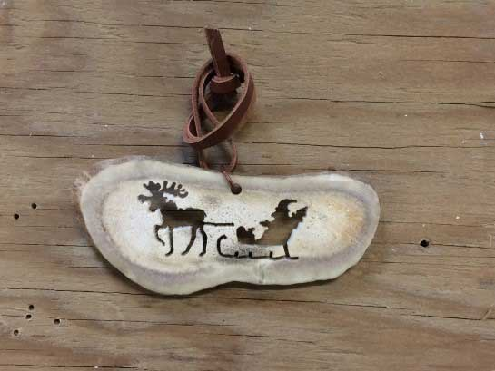 Santa Sleigh Pulled by a Moose