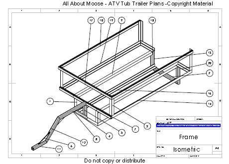 Wondrous Atv Trailer Plans For A Walking Beam Atv Tub Trailer Largest Home Design Picture Inspirations Pitcheantrous