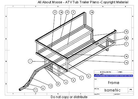 Swell Atv Trailer Plans For A Walking Beam Atv Tub Trailer Largest Home Design Picture Inspirations Pitcheantrous