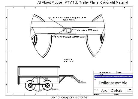 Atv trailer plans for a walking beam atv tub trailer atv tub trailer plans malvernweather Gallery