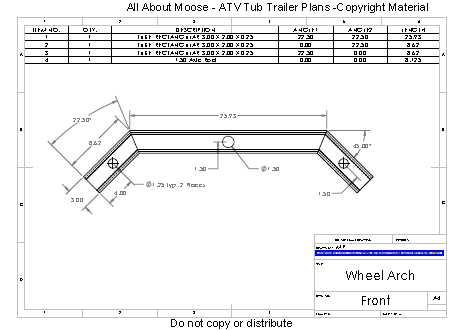 ATV Trailer Plans Tub Trailer