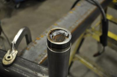 Small Sleeve Welded to the Center Pin