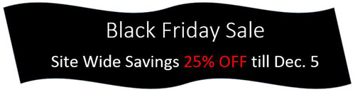 Black Friday Sale Save 25% Till December 5th