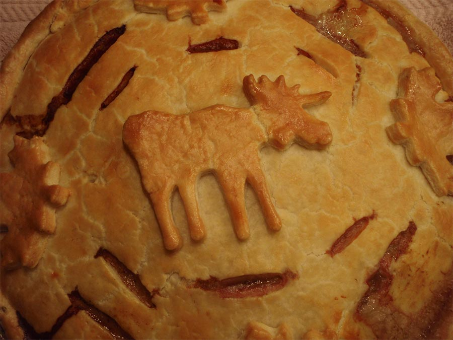 Traditional Meat Pie Recipe Made With Moose Meat