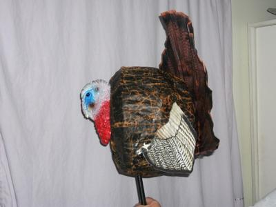 Competed Pop-up Turkey Decoy Side View