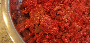Raw Moose Mince Meat