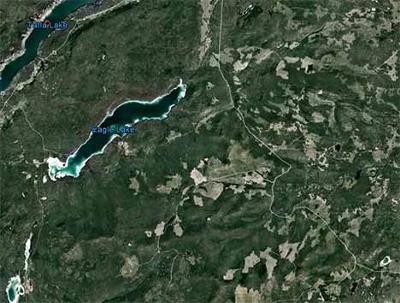South of Tatla Lake Map