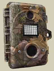 Moose Photo Contest Spypoint Trail Camera - Main features: 5.0 Megapixel, 35 infrared LEDs, 5 zone sensor, Date, time, temp. and moon phase stamp, Camera and video, modes, Operates on 6 AA batteries, Item Description: Smaller and easier to handle than most game cameras, the IR-5's multi-shot setting takes 5-megapixel color photos in 4-photo bursts by day and bright 35-infrared LED black-and-white photos at night. Remove the internal camera and switch to the video mode setting to record footage of your hunt. Very fast trigger speed with the all-new 5 zone sensor.  At only 4.5