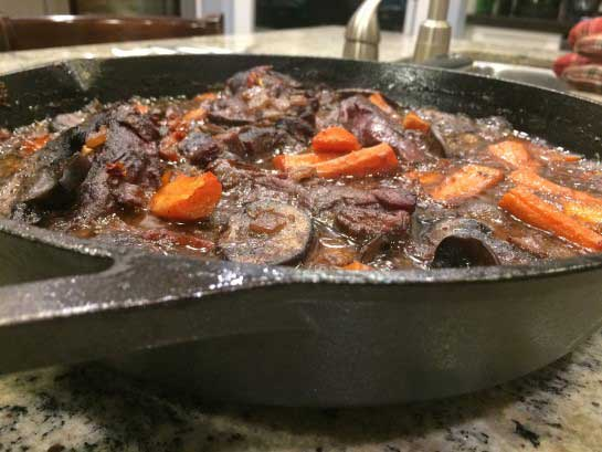 Moose Ribeye Steak with Wild Mushrooms and Sundried Tomatoes
