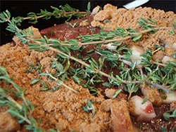 Oven Baked Moose Roast with fresh herbs