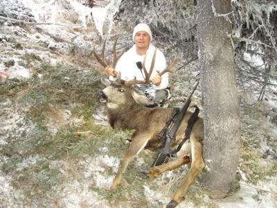 Myself with my 2010 5x6 mule deer buck Trophy