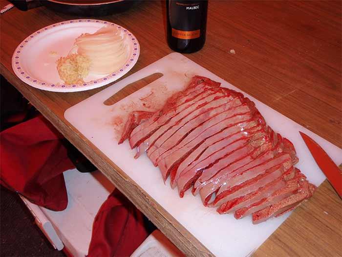 Sliced Moose Liver
