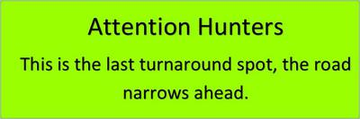 Last U-Turn Point Warning