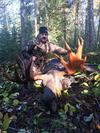 Nice bull moose taken with archery equipment.