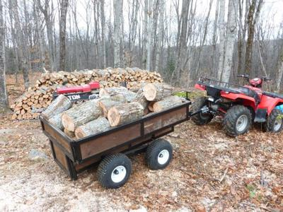 ATV Tub Trailer with a Full Load of Maple<br/>Tony's DIY Trailer<br/><i>Submitted Photo</i>