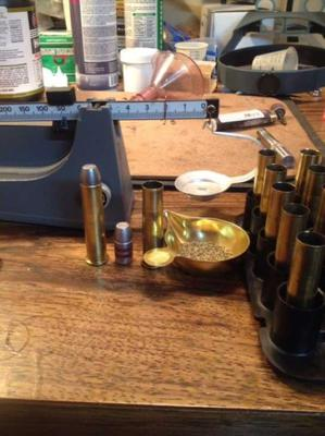 The setup for loading a 45-70 cartridge