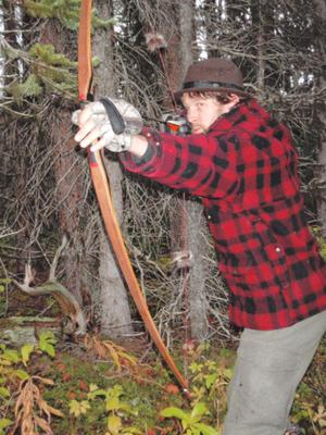 Traditional Archery Moose Hunter