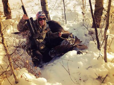 Bizarre Horned Moose