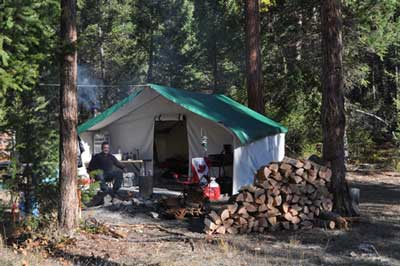 Deluxe Canvas Wall Tent