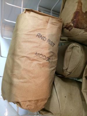 Frozen Moose Meat