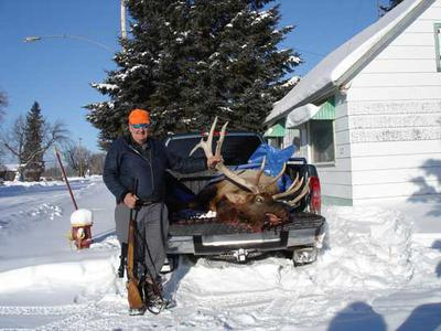 A 7 X 7 Elk I took with the rifle
