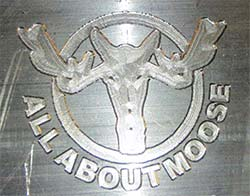 All About Moose Logo Engraving