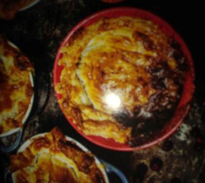 Moose Steak and Mushroom Pie