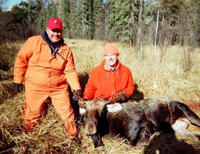 Saskatchewan Moose Hunt Young Bull Moose